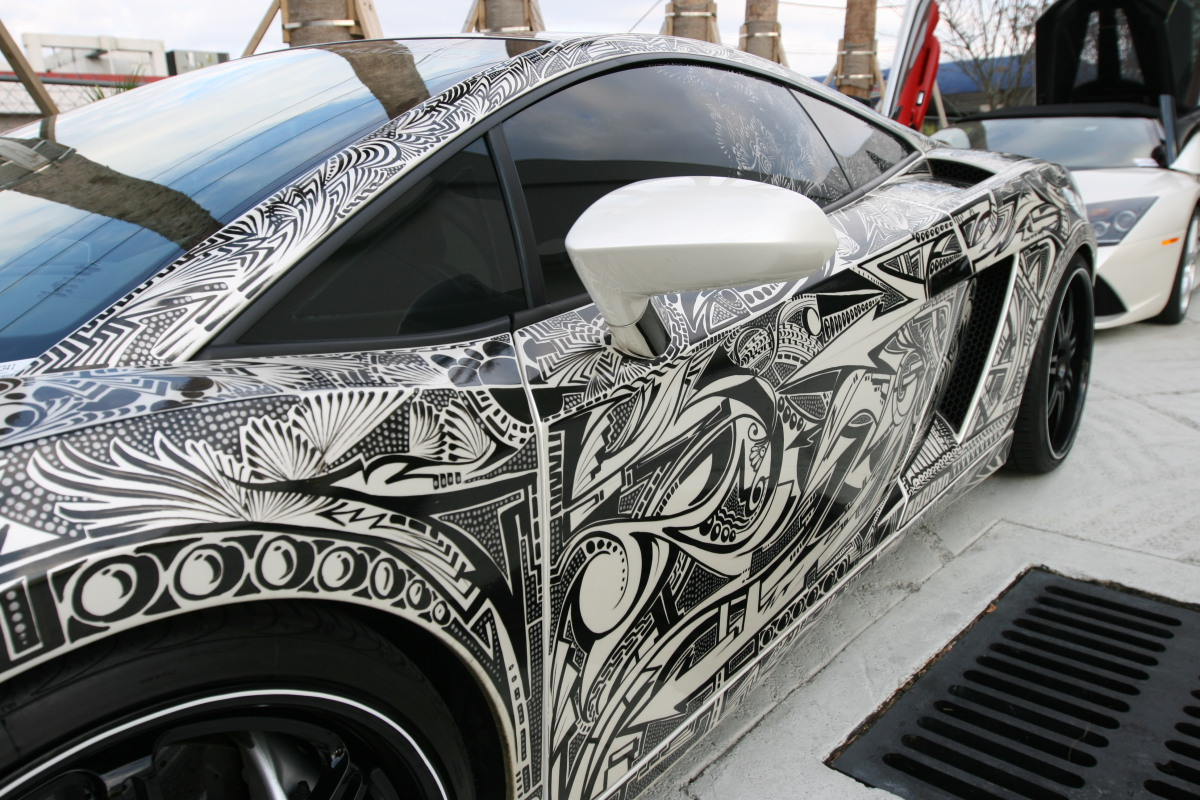 Car Painted With Sharpies