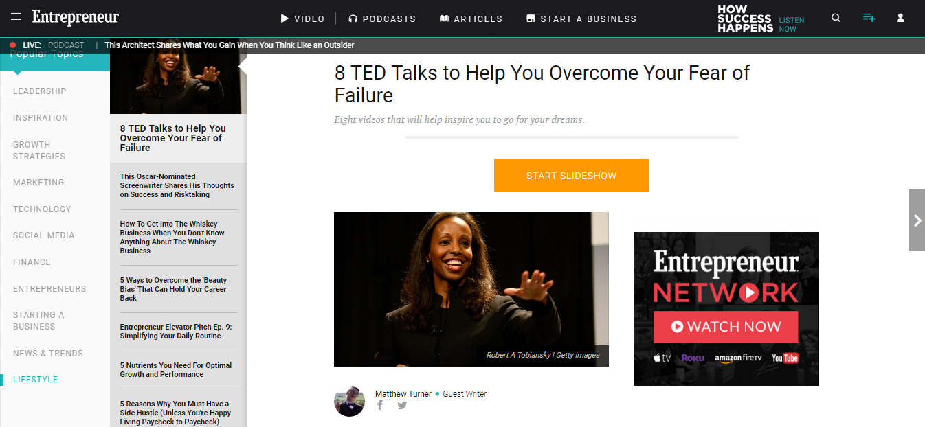 Guest Post] 8 TED Talks to Help You Overcome Your Fear of